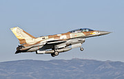 Jets Framed Prints - An Israeli Air Force F-16i Sufa Framed Print by Giovanni Colla