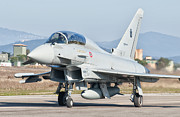 Airfield Prints - An Italian Air Force Eurofighter Print by Giovanni Colla