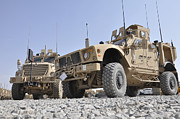 Afghanistan Photo Posters - An M-atv Mine Resistant Ambush Poster by Stocktrek Images