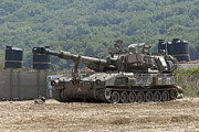 Self View Posters - An M109 Self-propelled Howitzer Poster by Andrew Chittock