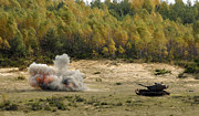 M60 Patton Tank Photos - An M60 Patton Tank Explodes by Stocktrek Images