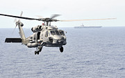Helicopter Art - An Mh-60r Seahawk Helicopter In Flight by Stocktrek Images