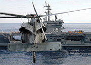 Carrier Prints - An Mh-60s Seahawk Hovers Prior Print by Stocktrek Images