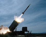 Surface-to-air Prints - An Mim-104 Patriot Missile Is Test Print by Stocktrek Images