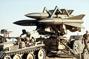 Artillery Metal Prints - An Mim-23b Hawk Surface-to-air Missile Metal Print by Stocktrek Images