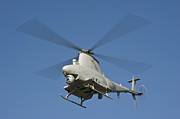 Rotor Blades Photo Prints - An Mq-8b Fire Scout Unmanned Aerial Print by Stocktrek Images