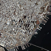 An Oblique-angle View Of San Franciscos Print by Stocktrek Images