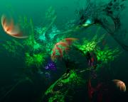 Under The Sea Prints - An Octopuss Garden Print by David Lane