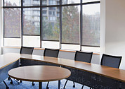 Empty Chairs Posters - An Office Meeting Or Board Room. Narrow Poster by Marlene Ford