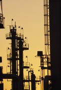 Production Photos - An Oil Refinery At Dusk by Lynn Johnson