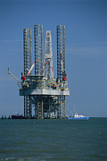 Etc. Photos - An Oil Rig Under Construction by Raymond Gehman