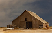 Barn Digital Art Originals - An Old Barn in Rural California by Mark Hendrickson