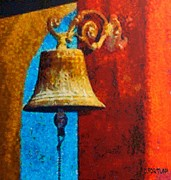 Azur Mixed Media Posters - An old bell Poster by Dragica  Micki Fortuna