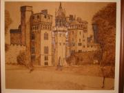 Wales Pyrography - An Old Castle by Katerina Tsibouraki