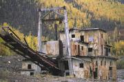 Historical Housing Prints - An Old Gold Dredge Print by Michael Melford