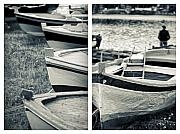 Diptych Photos - An old mans boats by Silvia Ganora