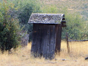 Outhouses Metal Prints - An Old Outhouse  Metal Print by Jeff  Swan