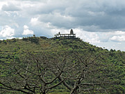 An Old Temple Building On Top Of A Hill With A Lot Of Clouds In The Sky Print by Ashish Agarwal