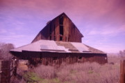Old Barns Framed Prints - An Old Weathered Barn  Framed Print by Jeff  Swan