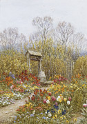Business Paintings - An Old Well Brook Surrey by Helen Allingham