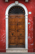 Door Prints - an old wooden door in Italy Print by Joana Kruse