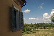 Ledge Photos - An Open Window Looks Out Onto A Tuscan by Heather Perry