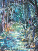 Dreamscape Mixed Media Metal Prints - An Other Place Metal Print by Patricia Allingham Carlson