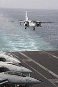 Supercarrier Prints - An S-3b Viking Prepares To Make An Print by Stocktrek Images