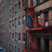 Nyc Fire Escapes Framed Prints - An Urban Escape Framed Print by Cornelis Verwaal