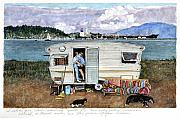 Puget Sound Framed Prints - Anacortes Fuel Framed Print by Perry Woodfin