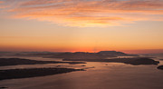 Puget Sound Photos - Anacortes Islands Sunset by Mike Reid