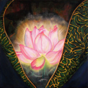 Heart Chakra Paintings - Anahata Opening by Joyce Huntington