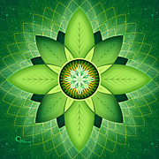 Meditative Digital Art - Anahata by Soul Structures