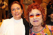 Gloria Digital Art - Anahi DeCanio and Judy Chicago by Anahi DeCanio