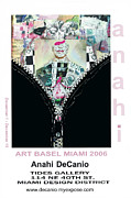 Miami Mixed Media Framed Prints - Anahi DeCanio Art Basel Miami Invite Framed Print by Anahi DeCanio