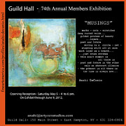 Hall Mixed Media Framed Prints - Anahi DeCanio at Guild Hall Exhibition Framed Print by Anahi DeCanio