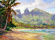 Plein Air Metal Prints - Anahola Bay Kauai Metal Print by Jenifer Prince