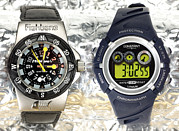 Electronic Watch Prints - Analogue And Digital Sports Watches Print by Martyn F. Chillmaid