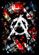 Digital Collage Framed Prints - Anarchy Punk Framed Print by Roseanne Jones