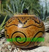 Box Pyrography - Anasazi Ancient Ancestors by C Whitehawk