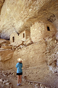 Early American Dwellings Framed Prints - Anasazi Cliff Dwellings Colorado Framed Print by John  Mitchell
