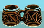 Anasazi Framed Prints - Anasazi double mug Framed Print by David Lee Thompson