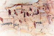 Residential Structure Digital Art Prints - Anasazi Dwellings Print by C Thomas Willard
