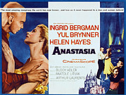 1956 Movies Prints - Anastasia, Yul Brynner, Ingrid Bergman Print by Everett