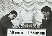 Chess Posters - Anatoly Karpov And Gari Aka Gary Poster by Everett