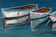 Anchored Reflections II Print by Sharon Kearns