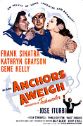 Sinatra Art Posters - Anchors Aweigh, From Left, Frank Poster by Everett