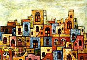Adel Jarbou Art - Ancient arabic city 3 by Adel Jarbou