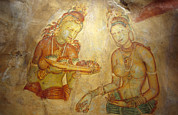 Concubines Prints - Ancient Cave Wall Paintings Depicting Print by Jason Edwards