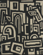 Cities Tapestries - Textiles - Ancient city by Cavid Mamadov